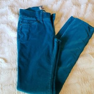 SO Teal Corduroy Skinny Jeans. Size 3